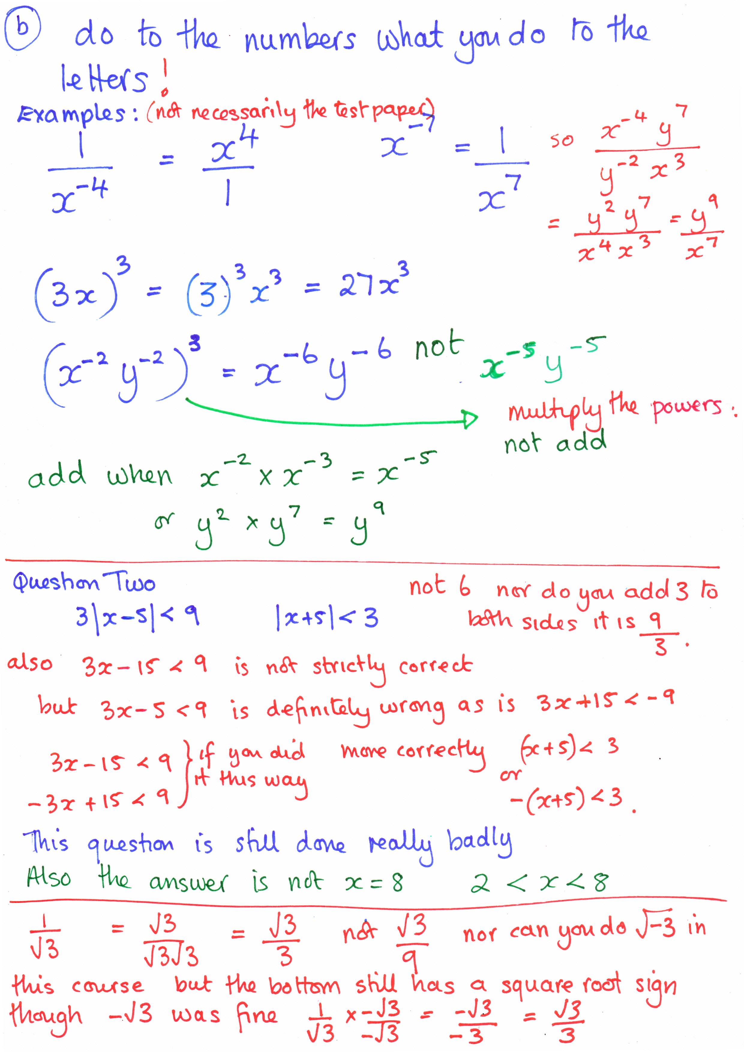 Math notes online homework help
